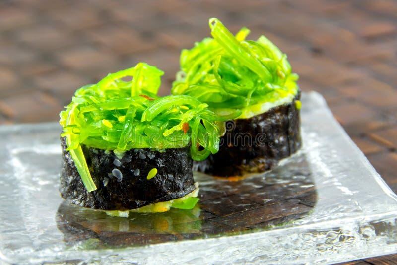 Sushi freschi giapponesi di maki fotografia stock