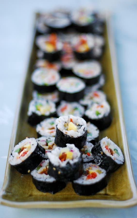 Sushi/Gimbap lizenzfreie stockbilder