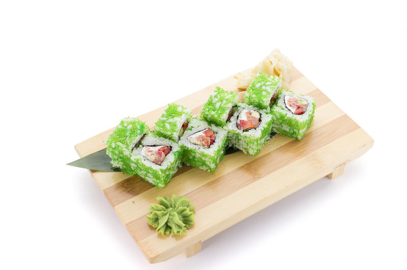 Sushi green roll. stock image