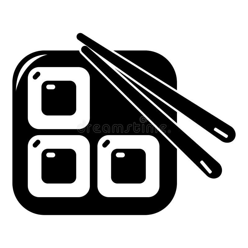 Sushi icon, simple black style. Sushi icon. Simple illustration of sushi vector icon for web royalty free illustration