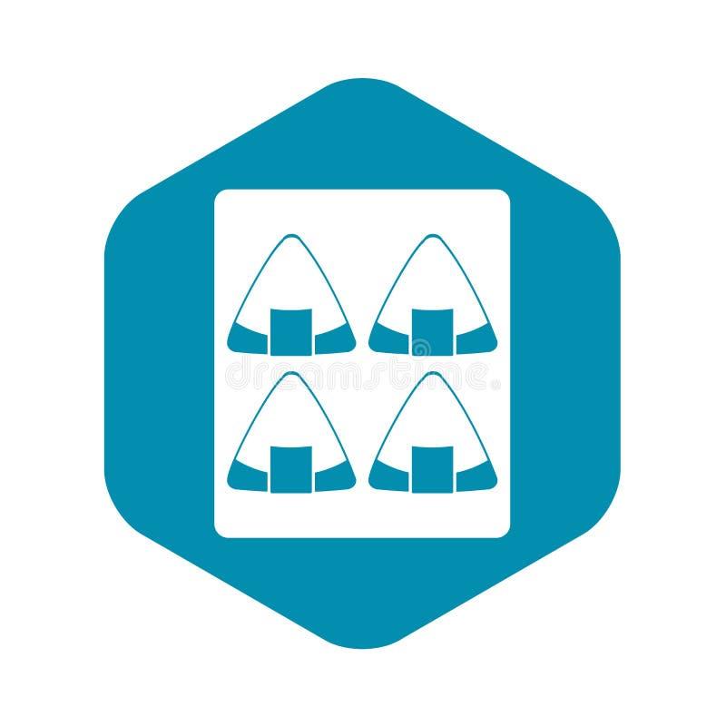 Sushi icon, simple style stock illustration