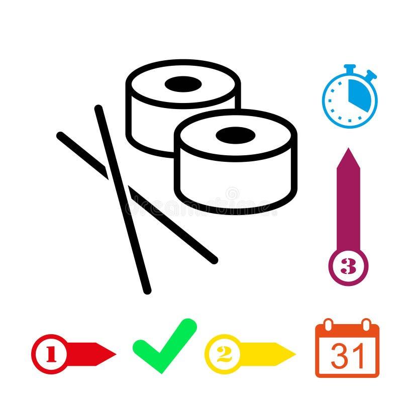 Sushi icon stock vector illustration flat design. Icon stock vector illustration flat design style stock illustration