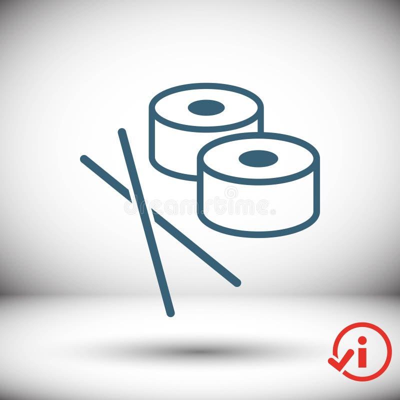 Sushi icon stock vector illustration flat design. Icon stock vector illustration flat design style royalty free illustration