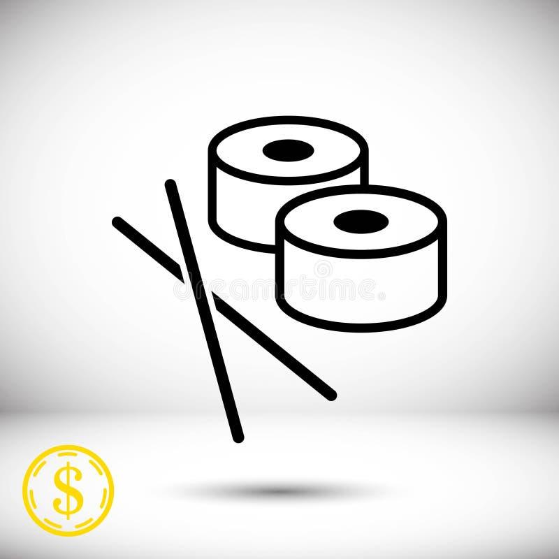 Sushi icon stock vector illustration flat design. Icon stock vector illustration flat design style vector illustration