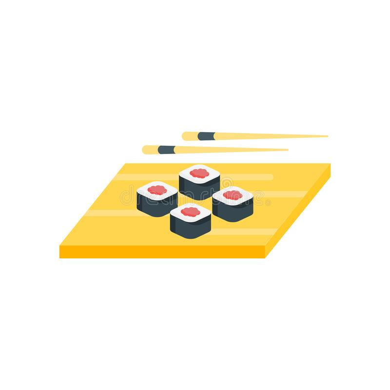 Sushi icon vector sign and symbol isolated on white background stock illustration