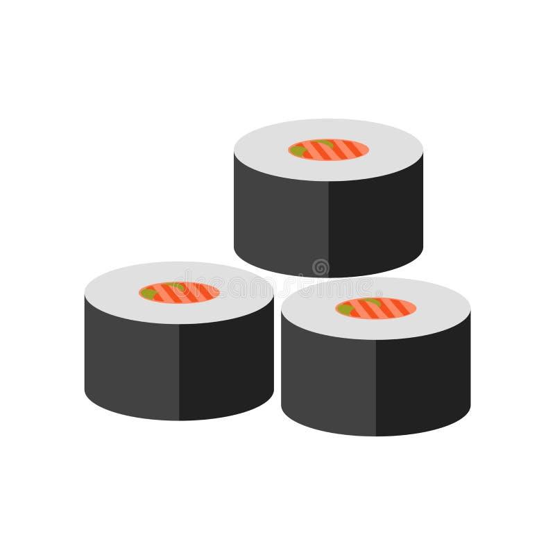 Sushi icon vector sign and symbol isolated on white background, Sushi logo concept royalty free illustration