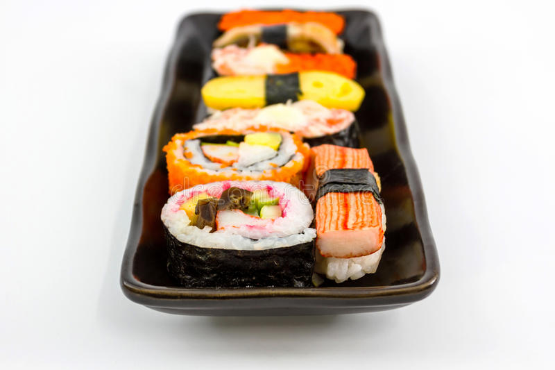 Sushi, Japans sushi traditioneel voedsel. stock afbeelding