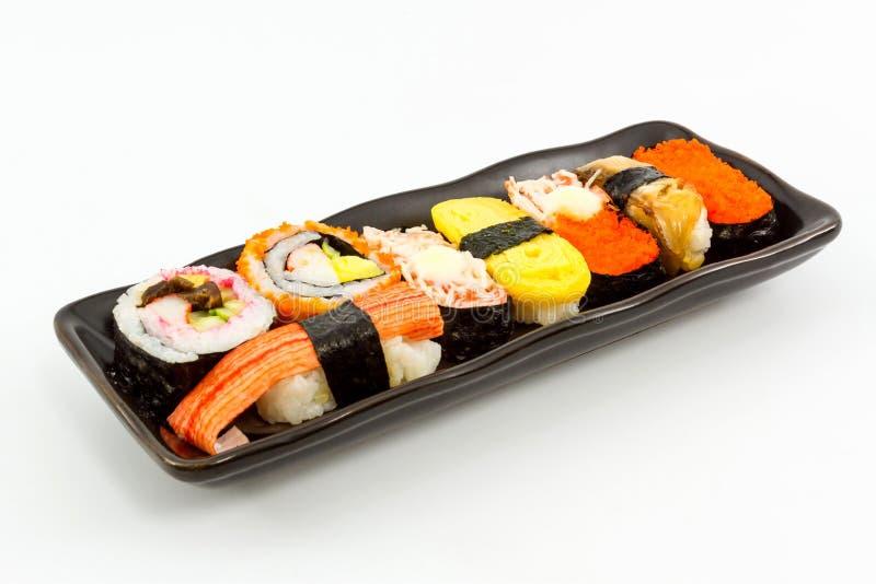 Sushi, Japans sushi traditioneel voedsel. stock foto