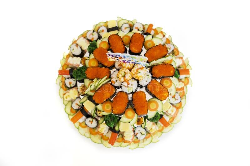 Sushi Japans voedsel voor verjaardagsgift stock afbeeldingen