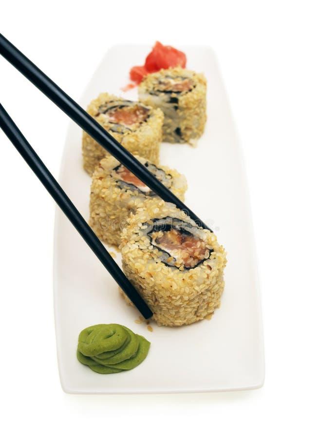 Sushi japonés Rolls imagen de archivo libre de regalías