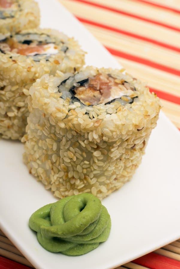 Sushi japonés Rolls foto de archivo libre de regalías