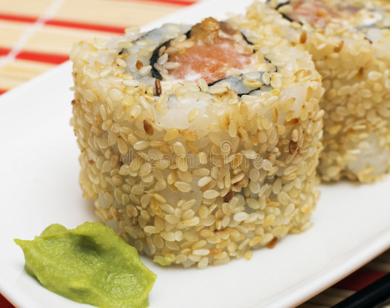 Sushi japonés Rolls imagen de archivo