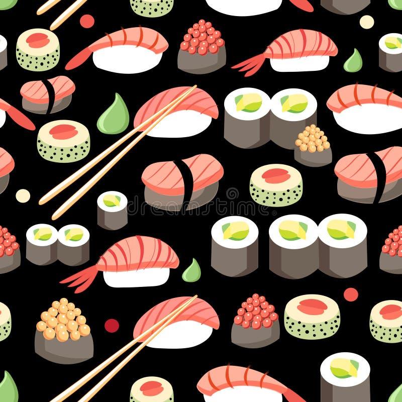 Sushi japonês delicioso ilustração royalty free