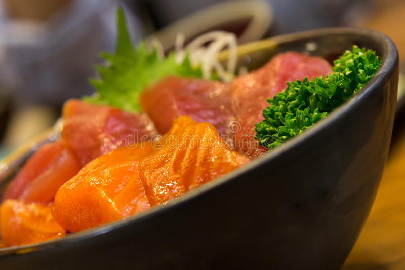 Sushi in komclose-up stock afbeelding