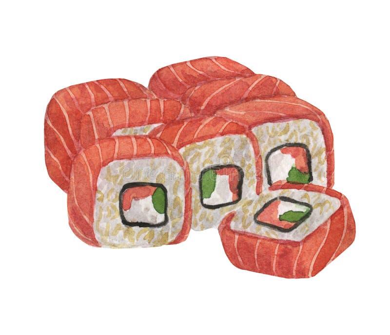 Sushi Kulinarischer Bestandteil Tellerprodukt Restaurantmen? und -caf? vektor abbildung