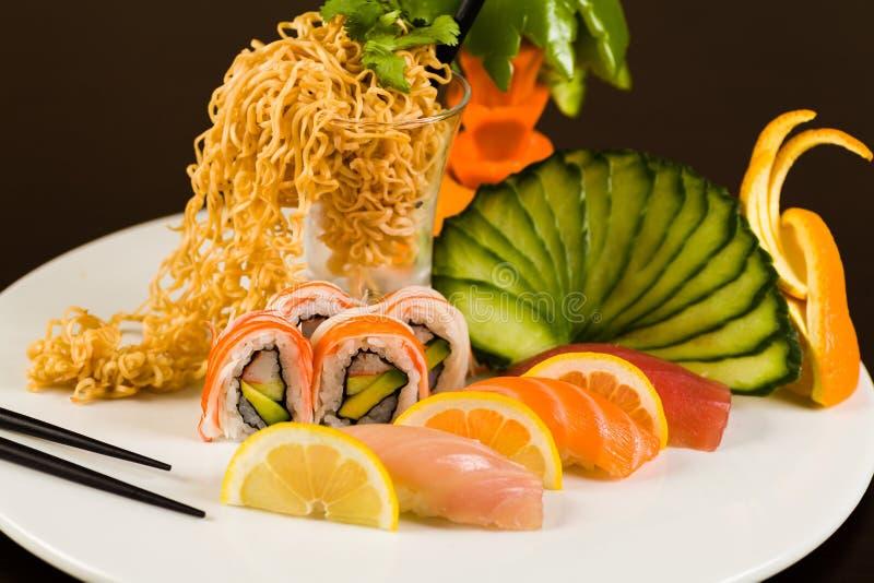 Sushi-Liebhaber stockfotos