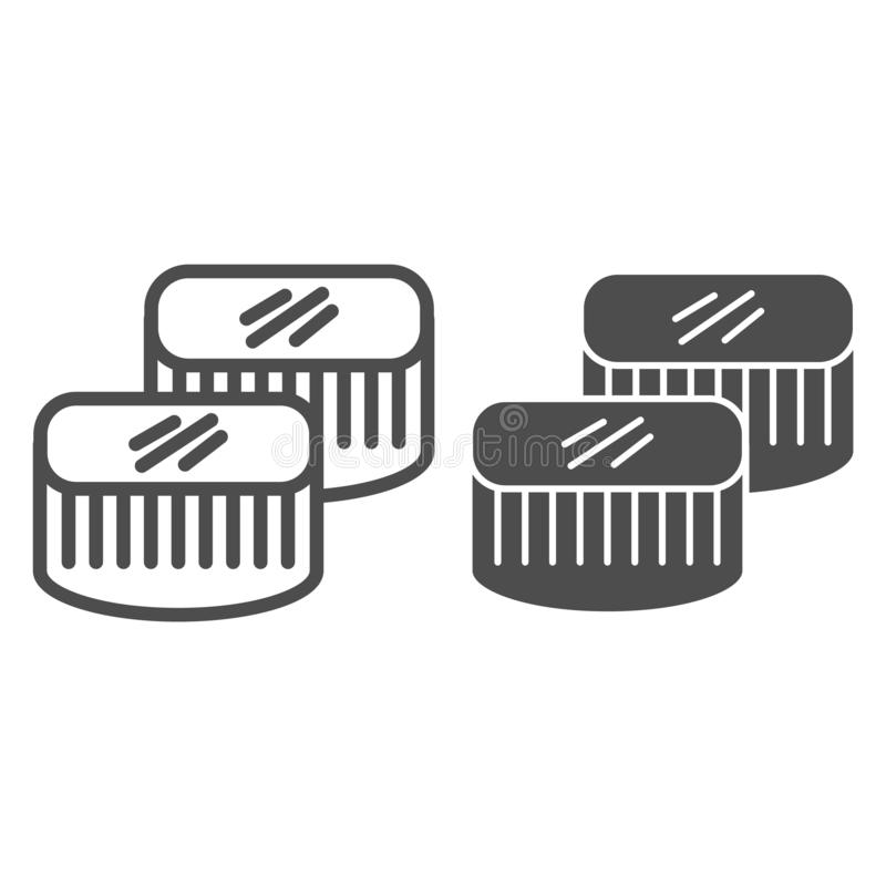 Sushi line and glyph icon. Asian food vector illustration isolated on white. Seafood outline style design, designed for vector illustration
