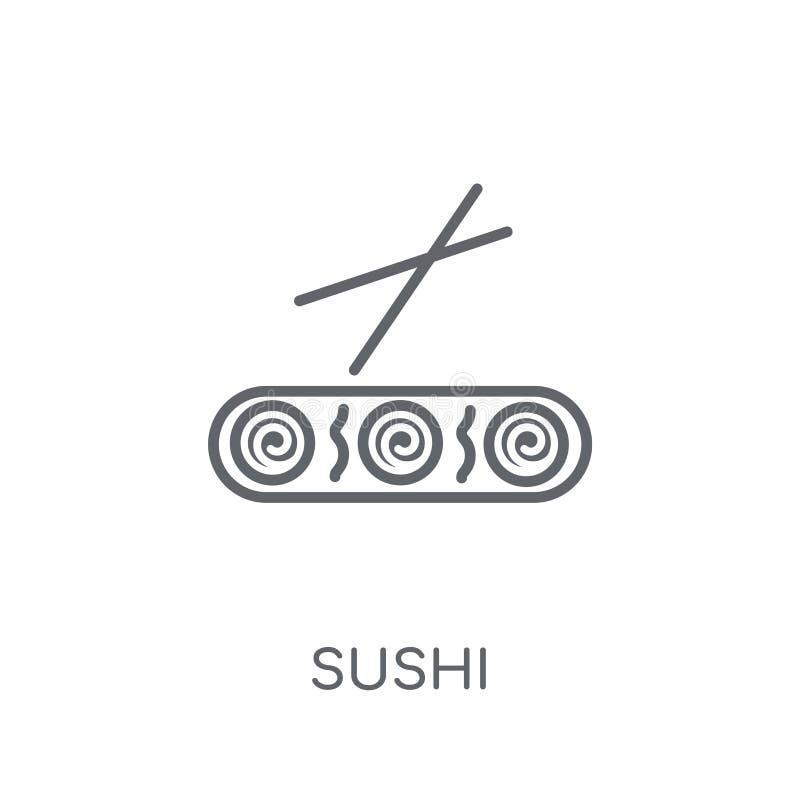 Sushi linear icon. Modern outline Sushi logo concept on white ba royalty free illustration