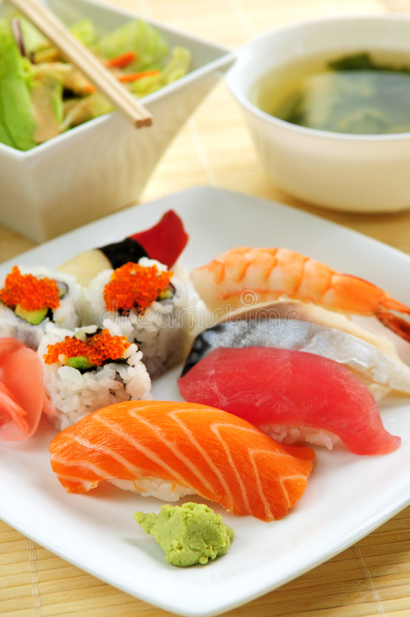 Download Sushi lunch stock photo. Image of meal, oriental, ginger - 5223342