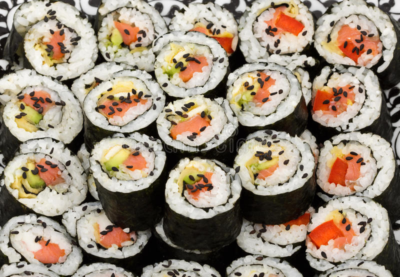 Sushi maki kit royalty free stock photography