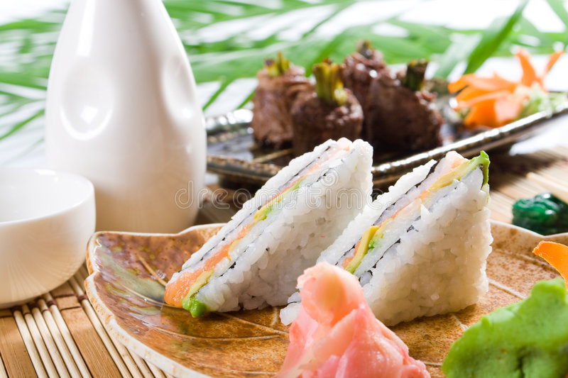Sushi meal royalty free stock image