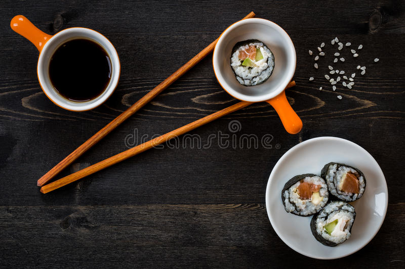 Sushi meal stock images