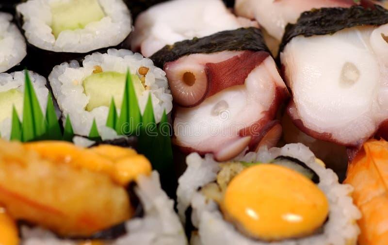 Download Sushi-Mehrlagenplatte stockfoto. Bild von befestigungsklammer - 48918