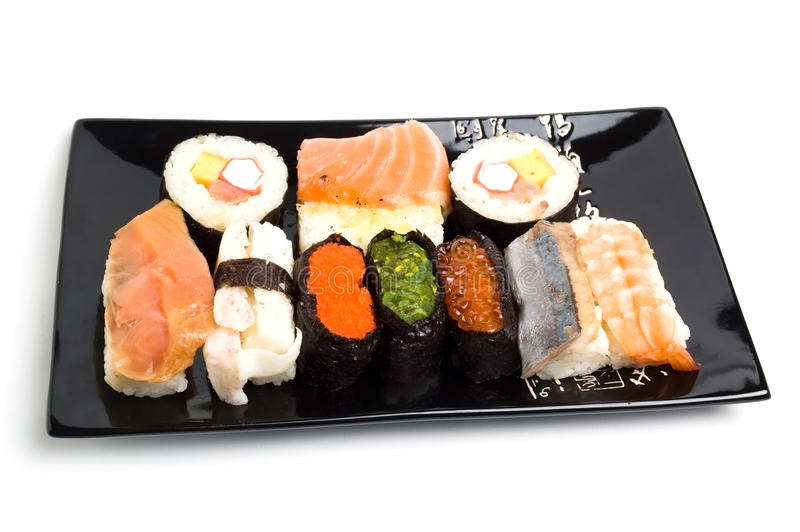 Sushi-menú fotografía de archivo