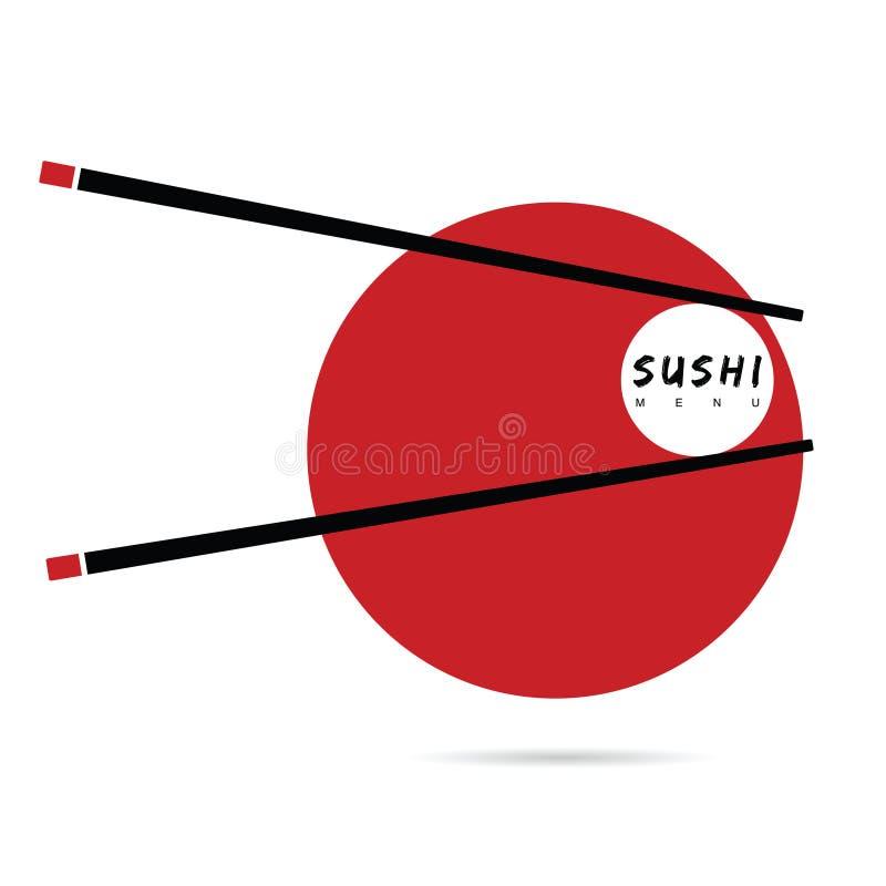 Sushi menu icon vector illustration. On white background stock illustration