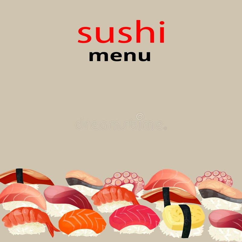 Sushi menu stock illustration