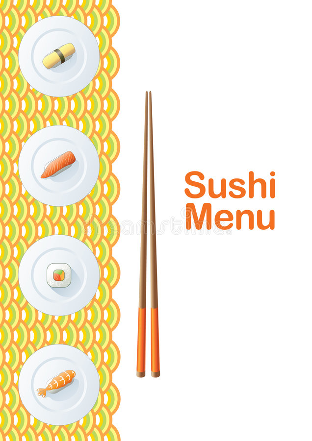 Download Sushi menu template stock vector. Image of chef, kitchen - 6727608