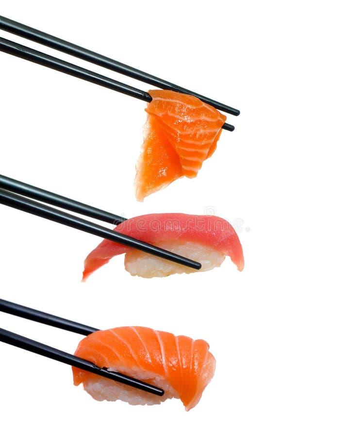 Sushi met eetstokjes royalty-vrije stock foto