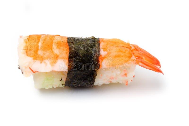 Sushi met garnalen royalty-vrije stock afbeeldingen