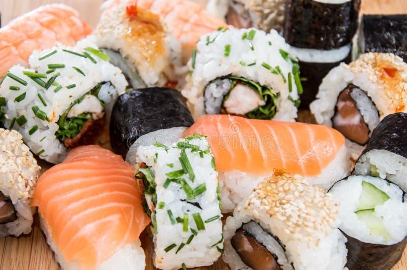 Sushi misti (macro colpo) immagini stock libere da diritti