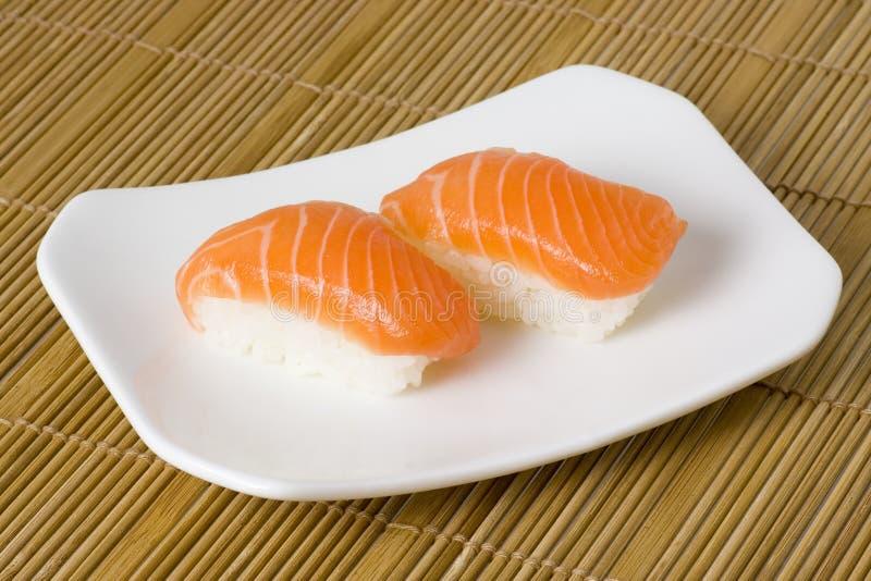 Sushi - Nigiri Salmon fotos de stock
