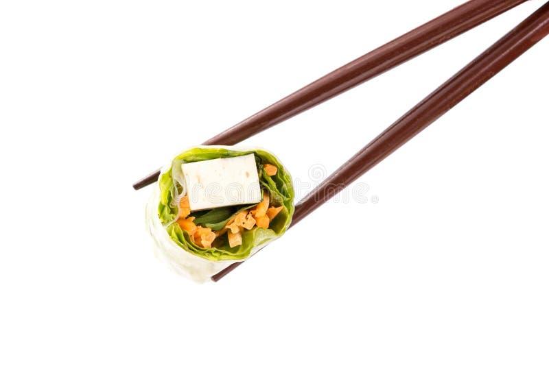 Sushi no branco imagens de stock royalty free