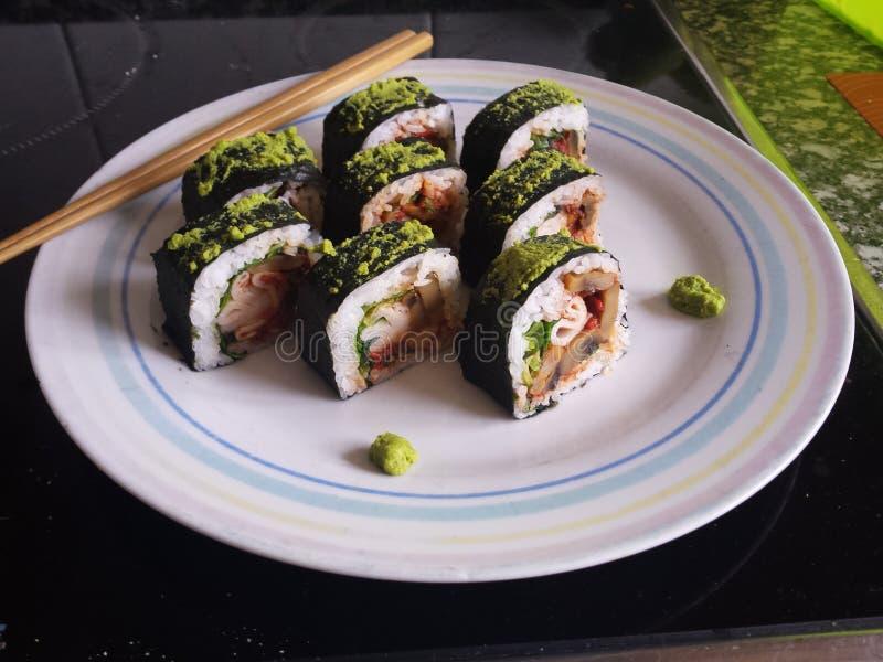 Sushi occidental fotos de archivo libres de regalías