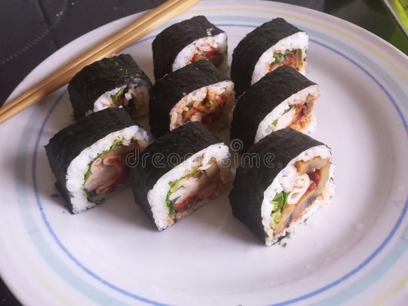 Sushi occidental imagenes de archivo