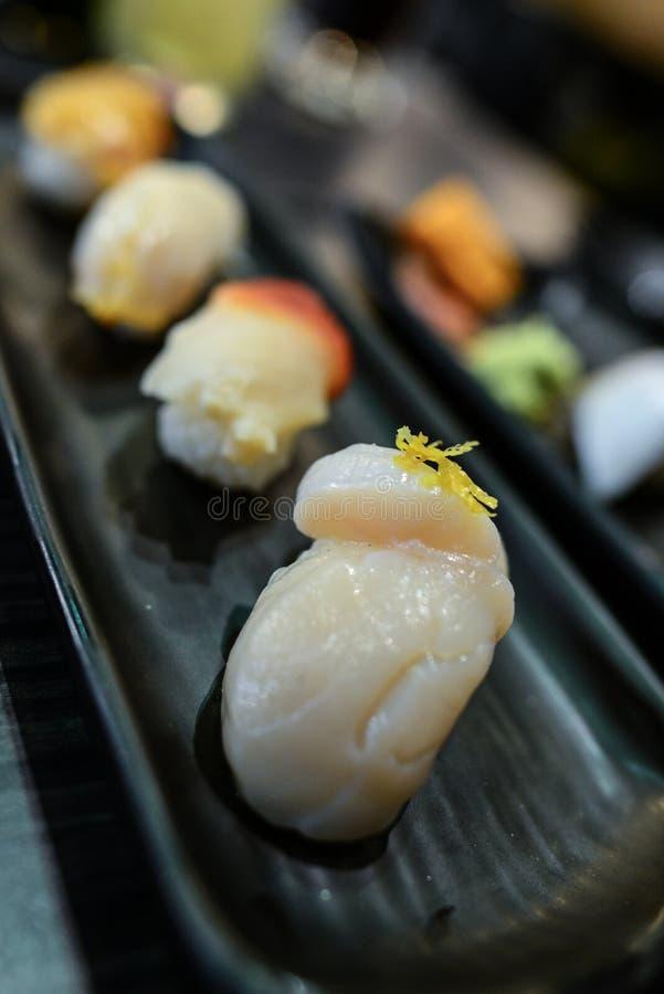 Sushi op de schotel royalty-vrije stock foto