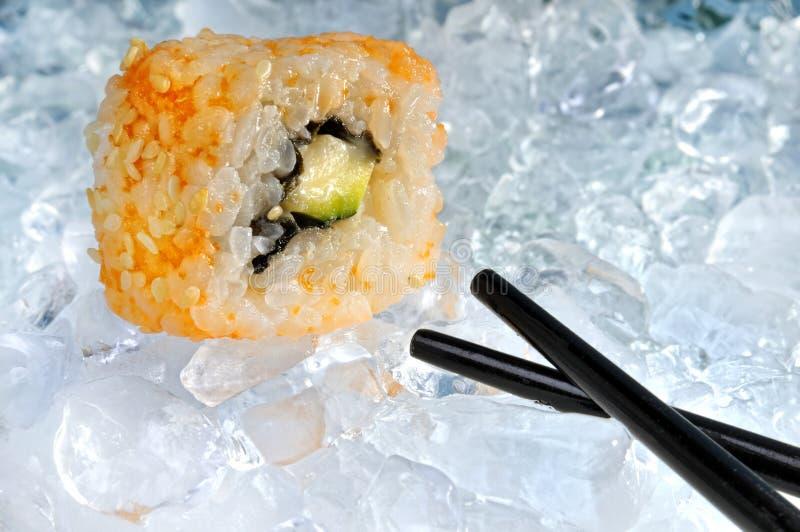 Sushi op ijs stock foto