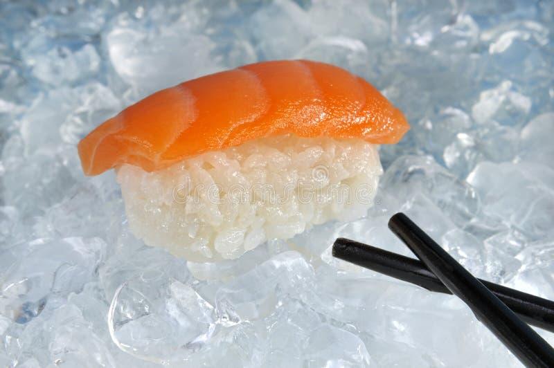 Sushi op ijs stock afbeelding
