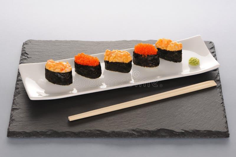 Sushi op plaat royalty-vrije stock foto