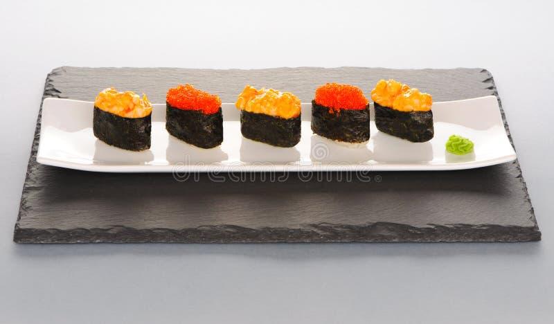 Sushi op plaat royalty-vrije stock fotografie
