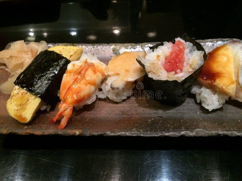 Sushi Osaka Kansai Japan Food Travel arkivbilder