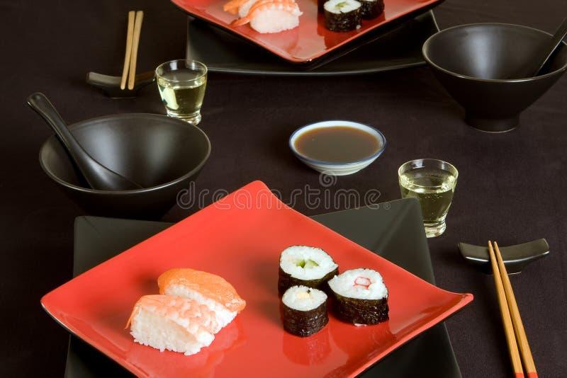 Sushi para dois fotografia de stock royalty free