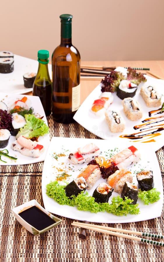 Sushi para o jantar imagens de stock royalty free