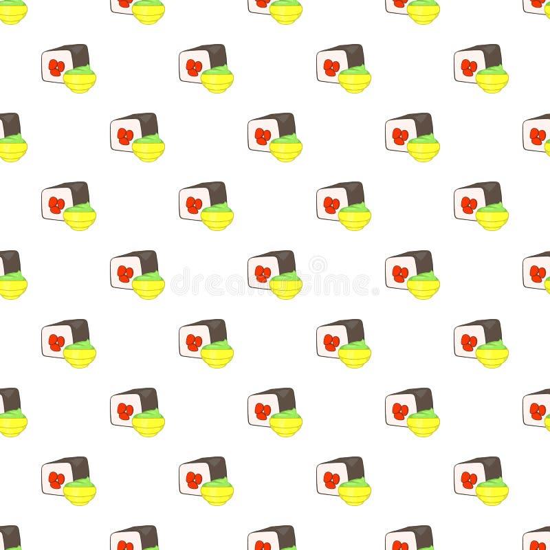 Sushi pattern, cartoon style. Sushi pattern. Cartoon illustration of sushi vector pattern for web vector illustration
