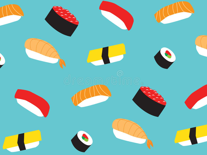 Sushi pattern royalty free stock photography