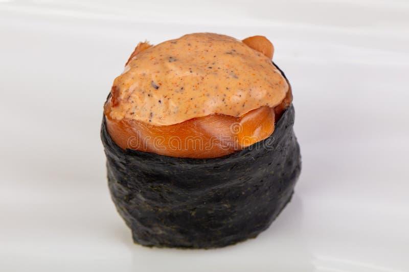 Sushi piccanti di Gunkan immagini stock libere da diritti
