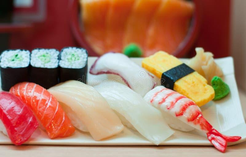 Sushi plástico imagem de stock